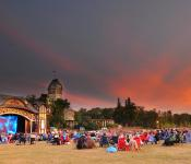 Outdoor entertainment at Lyric Theatre in Assiniboine Park