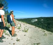 Hikers Enjoying the Escarpment on East Side, Riding Mountain National Park