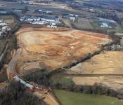 Aerial Views of Sports Park Development
