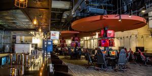Inside Battle & Brew, Atlanta/Sandy Springs Gaming Bar