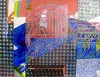 Public art mixed media painting Passage Suite #7.