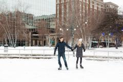 Ice Skating at Rosa Parks Circle