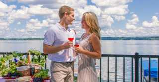 Wine tasting along Cayuga Lake