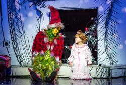 Philip Bryan as The Grinch and the 2016 Touring Company of Dr. Seuss' HOW THE GRINCH STOLE CHRISTMAS! The Musical