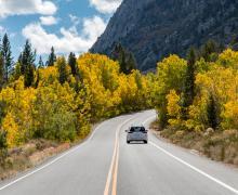 Rock Creek Road Fall Colors with Car