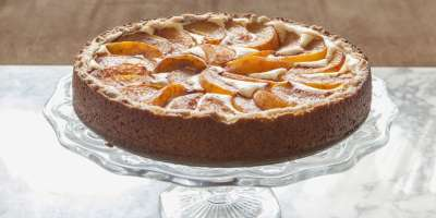 Peach Bavarian Torte #Recipe | ExploreAsheville.com