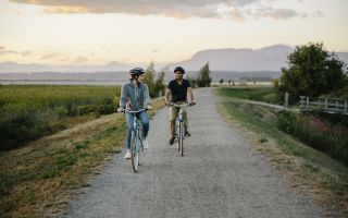 Cycling the West Dyke Trail