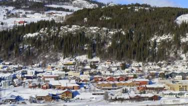 The centre of Ål in Hallingdal