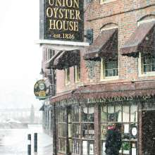 Union Oyster House in Snow