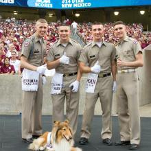 Yell Leaders with Reveille