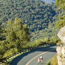 Cycling on the Blue Ridge Parkway