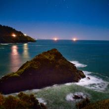 Heceta Head at Night by Eugene, Cascades & Coast