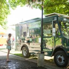 Vegimoto Food Truck at Cuthbert Amphitheater by Eugene, Cascades & Coast
