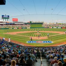 Sloan Park Stands looking at home plate