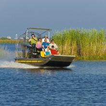 Airboat on the Delta