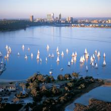 Swan River, Perth City Skyline
