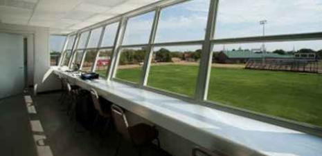 Press box interior