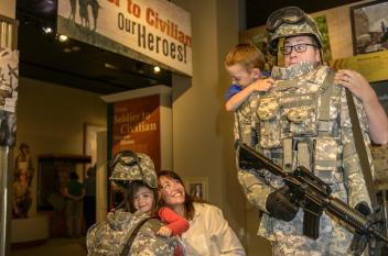 Family at Soldier's Experience Exhibit