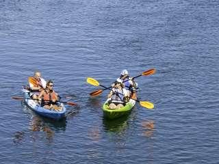 Kayaks on the Narrow River
