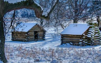 Valley Forge Park Winter Huts