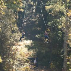 Fall Fun on a Zip Line