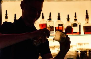 Bar X Bartender Mixing Drinks