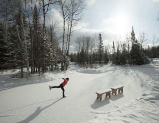 Minocqua ice skater in winter