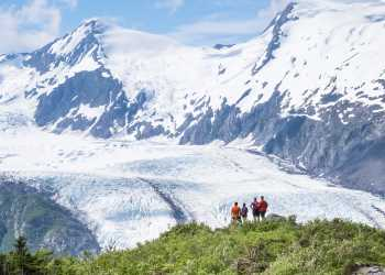 Portage Glacier view from Portage Pass Hiking Trail