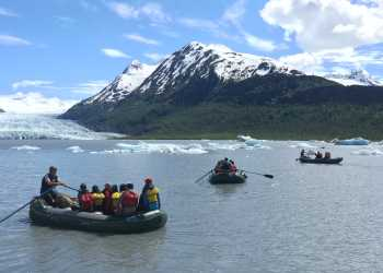 Spencer Glacier rafting trip Chugach Mountains