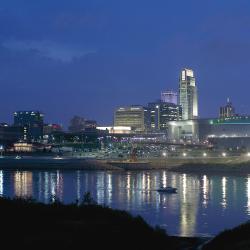 Downtown Omaha at Night