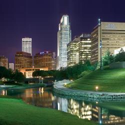 Skyline of Omaha at Night