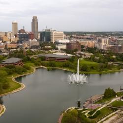 Omaha Skyline with Fountain