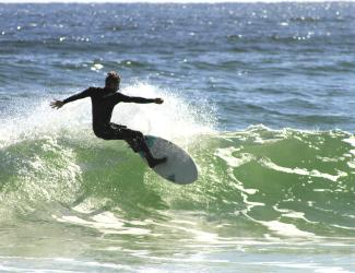 Surfing on Pensacola Beach