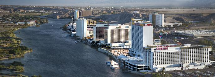 aerial view of Laughlin during the day