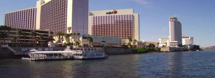Exterior View of The Aquarius Casino Resort in Laughlin