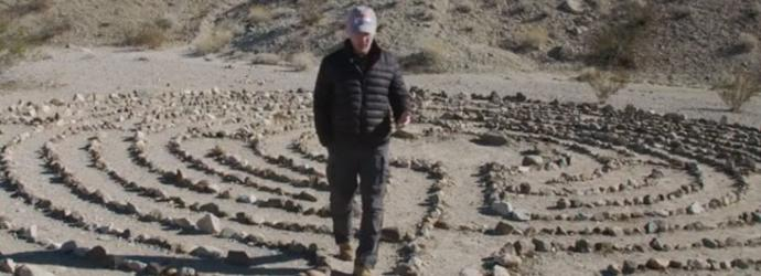 Man at Laughlin Labyrinths