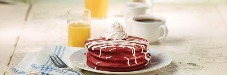 Food - Red Velvet Pancakes