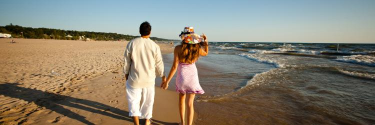 Enjoy a day at any number of beach towns in West Michigan, less than an hour drive from Grand Rapids.