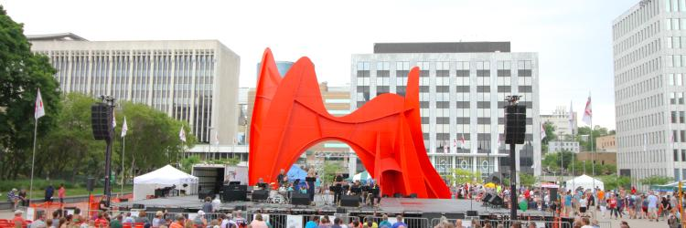 Performance at Calder Plaza during Festival of the Arts
