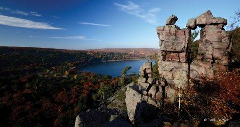 Devil's Lake in Fall