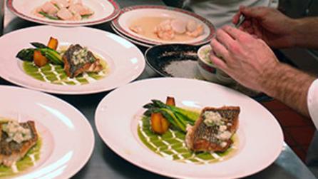Meals prepared at Culinary Institute of America in New York