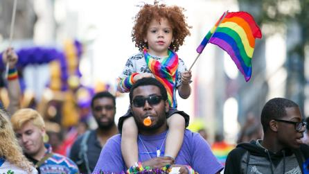 New York City Pride March; Photograph: Carl Timpone for BFA