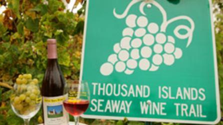 1000 Islands Seaway Wine Trail sign