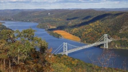 View of Bear Mountain Bridge from Bear Mountain State Park