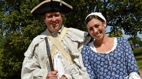 Historic reenactors at Valley Forge National Historical Park