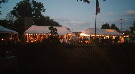 Morgan Log House Tavern Night
