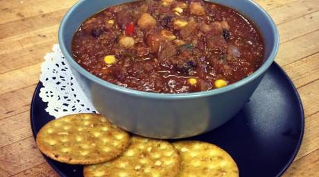 Vegan Chili from the Allways Cafe
