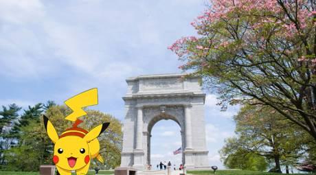 Pokemon Go at Arch