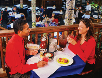 Couple dining at San Chez