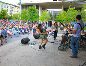 Crane Wives Performing at GRAM on the Green3